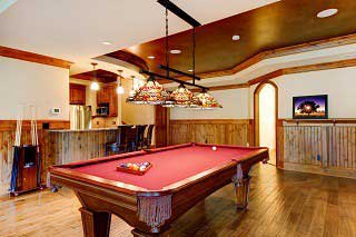 pool table setup with level in Palmdale